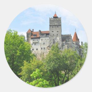 Bran castle, Romania Classic Round Sticker