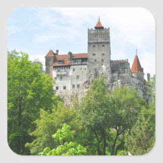 Bran castle, Romania Square Sticker