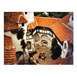 Bran Castle, Transylvania, Courtyard Postcard