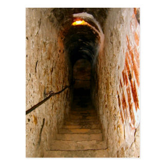 Bran Castle, Transylvania, stairway Postcard