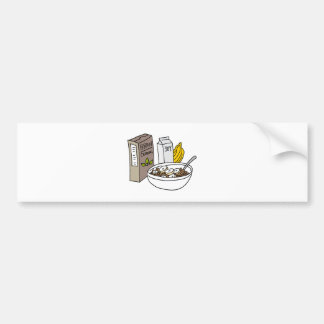 Bran cereal with bananas and soy milk bumper sticker