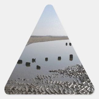BRANCASTER BEACH-NORFOLK PEGATINA TRIANGULAR