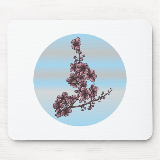 Branch blooms twig bare OM Mouse Pads