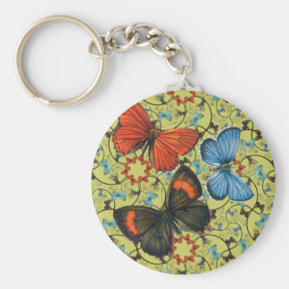 Branch Butterflies Lg Any Color Keychain