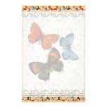 Branch Butterflies Lg Any Color Stationary Personalized Stationery