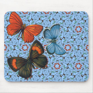 Branch Butterflies Sm Any Color Mouse Pad