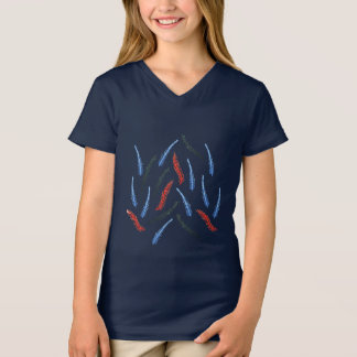 Branch Girls' V-Neck T-Shirt