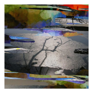 Branch Ice_Abstract Art Poster
