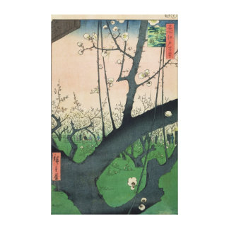 Branch of a Flowering Plum Tree Canvas Print