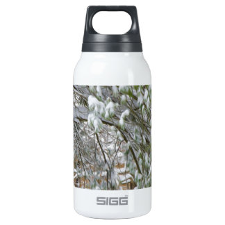 Branch of a winter tree covered with snow 10 oz insulated SIGG thermos water bottle
