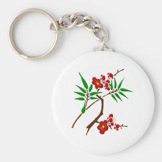 Branch of bloom twig bare OM Keychain