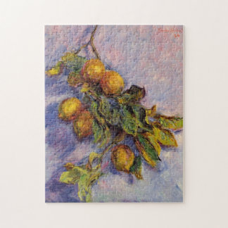 Branch of Lemons Monet Fine Art Jigsaw Puzzle