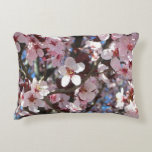Branch of Pink Blossoms Spring Flowering Tree Accent Pillow