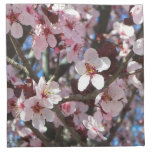 Branch of Pink Blossoms Spring Flowering Tree Cloth Napkin