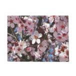 Branch of Pink Blossoms Spring Flowering Tree Doormat