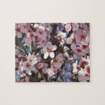 Branch of Pink Blossoms Spring Flowering Tree Jigsaw Puzzle