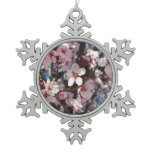 Branch of Pink Blossoms Spring Flowering Tree Snowflake Pewter Christmas Ornament