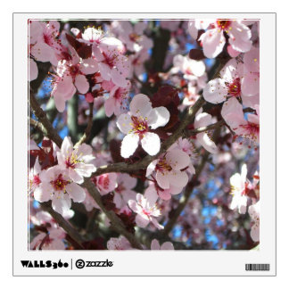 Branch of Pink Blossoms Spring Flowering Tree Wall Sticker