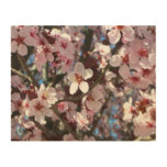 Branch of Pink Blossoms Spring Flowers Wood Wall Art