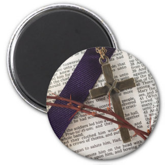 Branch of Thorns and Cross 2 Inch Round Magnet