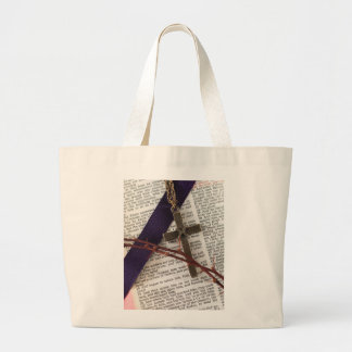 Branch of Thorns and Cross Large Tote Bag