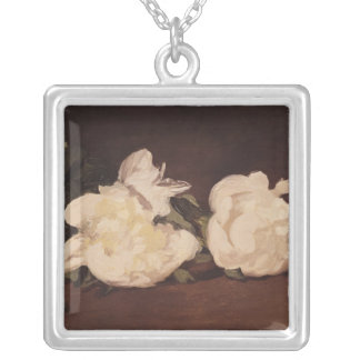 Branch of White Peonies and Secateurs, 1864 Necklaces