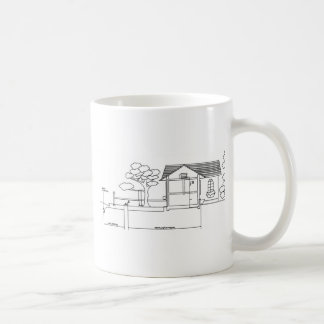 branch plants architecture drawing marries of prof coffee mug