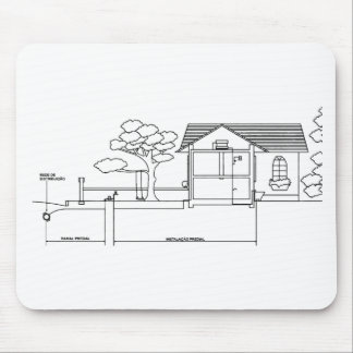 branch plants architecture drawing marries of prof mouse pad