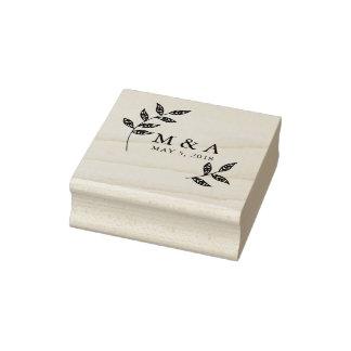 Branch Rustic Rubber Stamp Wedding Monogram