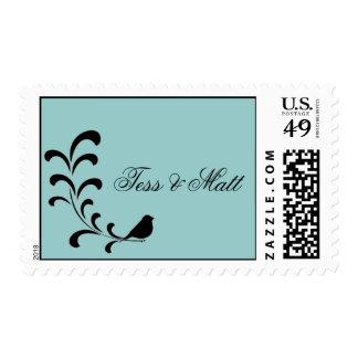 Branch Wedding Sticker Postage