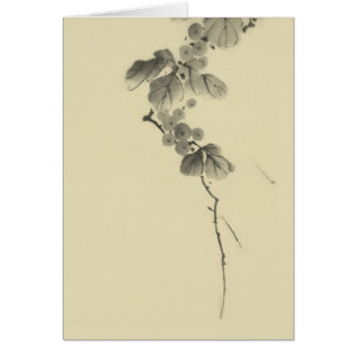 Branch with Leaves and Berries, Hokusai Japanese Stationery Note Card