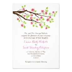 Branch with pink cherry blossoms spring wedding 5