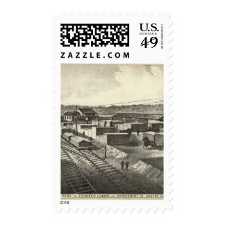 Branch yard, Princeton Lumber & Improvement Co Stamps