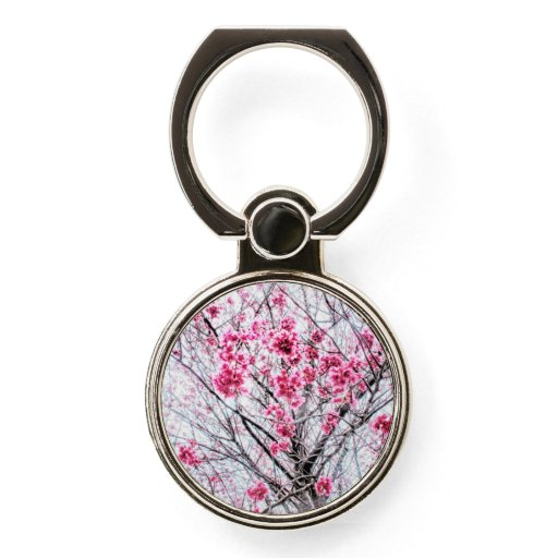 Branches and Blooms of a Cherry Tree Phone Ring Stand