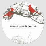 Branches and  Red  Singing Bird Stickers