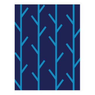 Branches blue postcard