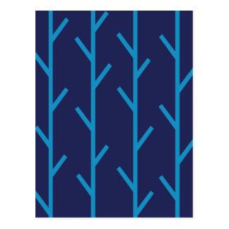 Branches blue postcard