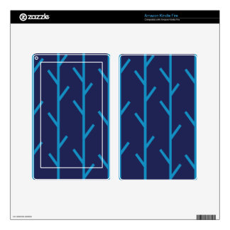 Branches blue skins for kindle fire