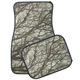 BRANCHES Camouflage Watercolor Camo Customizable Car Floor Mat