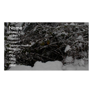 Branches Covered With Snow After Heavy Snowfall Double-Sided Standard Business Cards (Pack Of 100)