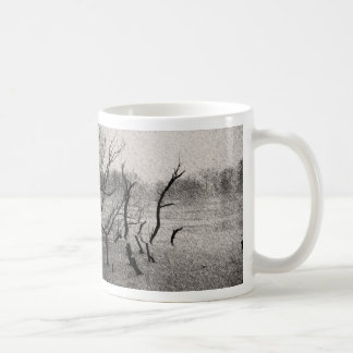 Branches in graphic pen coffee mugs