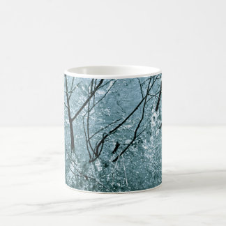 BRANCHES IN ICE BLUE WATER RAPIDS COFFEE MUG
