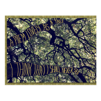 Branches Of A Big Oak Tree A Poem Lovely As A Tree Postcard