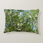 Branches of Dogwood Blossoms Spring Trees Accent Pillow