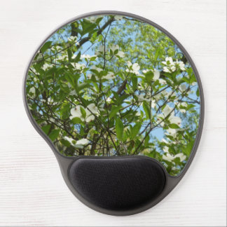 Branches of Dogwood Blossoms Spring Trees Gel Mouse Pad