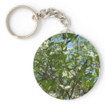 Branches of Dogwood Blossoms Spring Trees Keychain