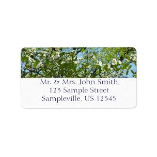 Branches of Dogwood Blossoms Spring Trees Address Label