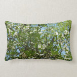 Branches of Dogwood Blossoms Spring Trees Lumbar Pillow