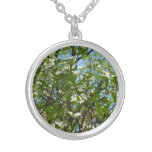 Branches of Dogwood Blossoms Spring Trees Silver Plated Necklace
