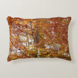 Branches of Orange Leaves Autumn Nature Decorative Pillow
